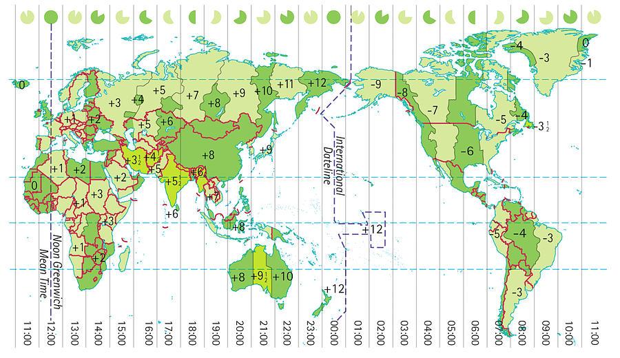 Digital Illustration Of World Map Digital Art by Dorling Kindersley