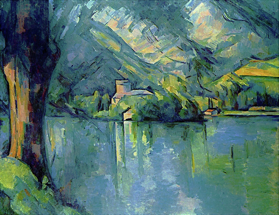 Landscape Painting - Lake Annecy - Digital Remastered Edition by Paul Cezanne