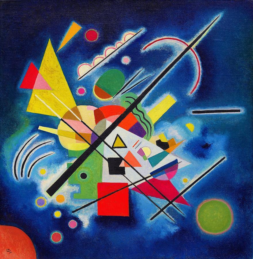 Wassily Kandinsky Painting - Digital Remastered Edition - Blue Painting by Wassily Kandinsky