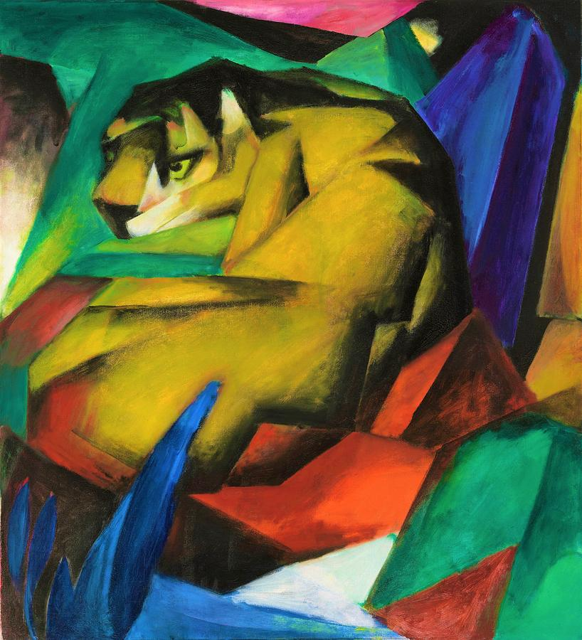 Franz Marc Painting - Digital Remastered Edition - The Tiger by Franz Marc