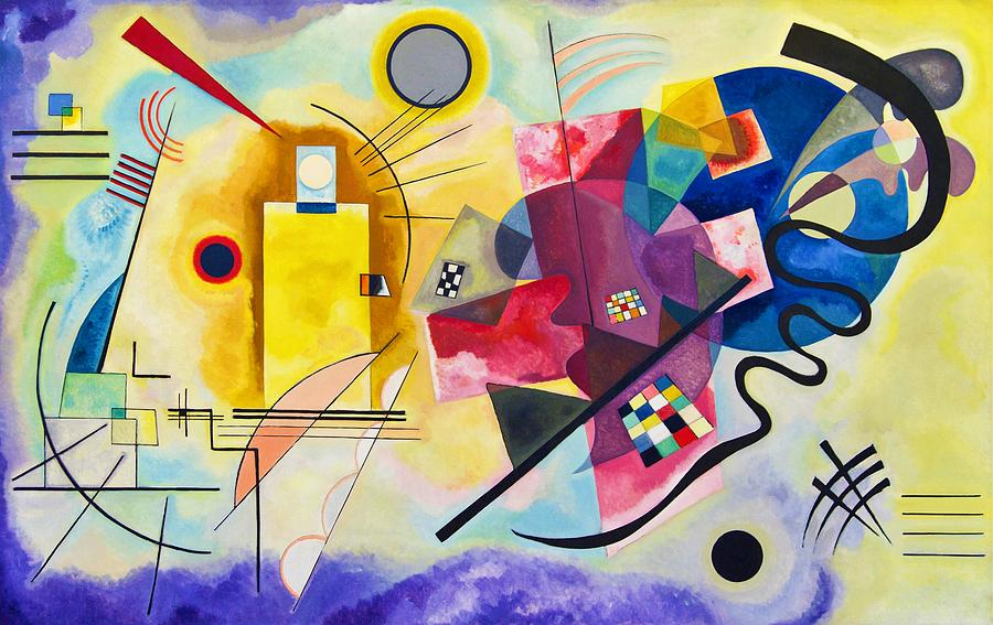Wassily Kandinsky Painting - Digital Remastered Edition - Yellow, Red, Blue by Wassily Kandinsky