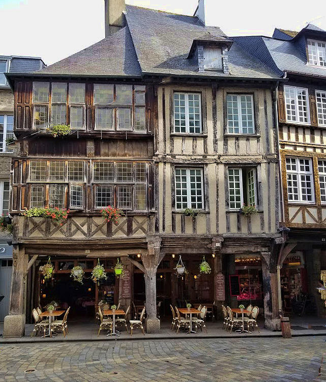 Dinan France Cafe by Curt Rush