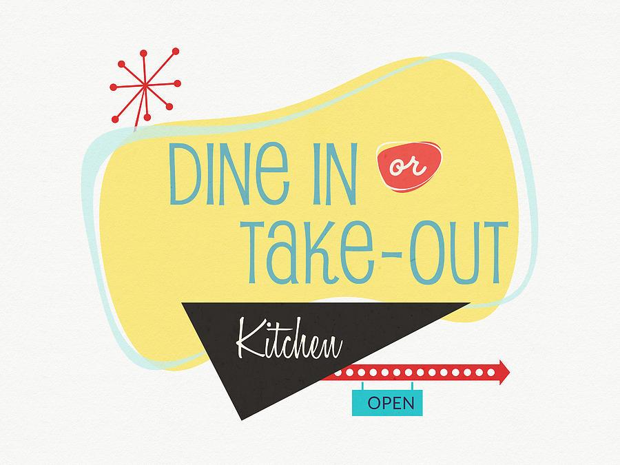 Kitchen Digital Art - Dine In Kitchen - Art By Linda Woods by Linda Woods