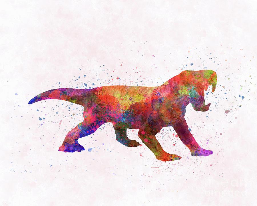 Dinogorgon dinosaur in watercolor by Pablo Romero