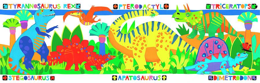 Pterodactyl Mixed Media - Dinosaurs by Cheryl Piperberg