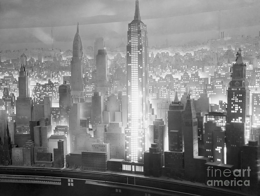 Diorama Of Manhattan At 1939 Worlds Fair Photograph by Bettmann