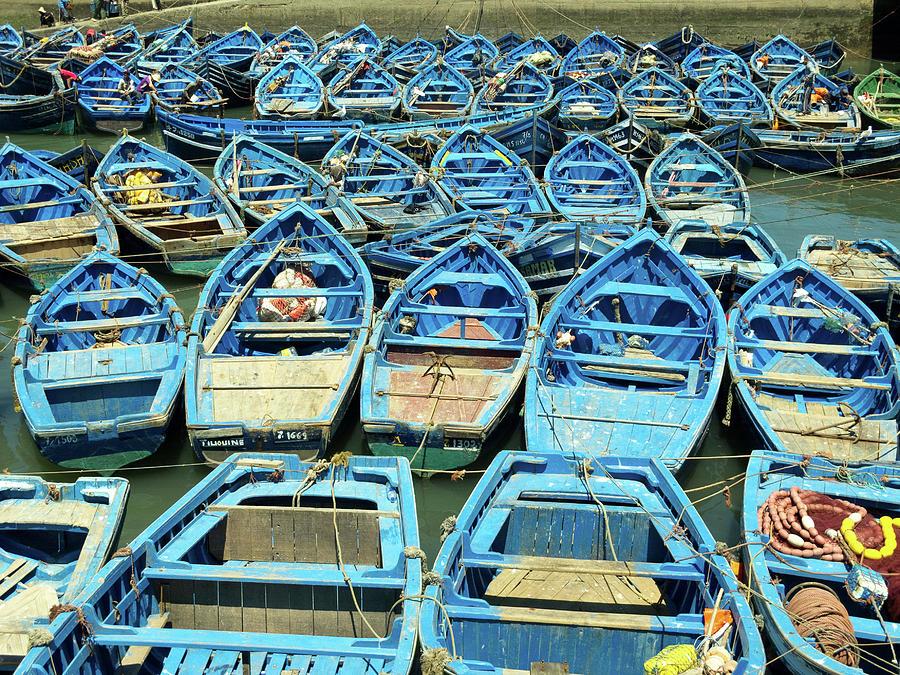 Diptic 2 Boats Morocco by Mache Del Campo