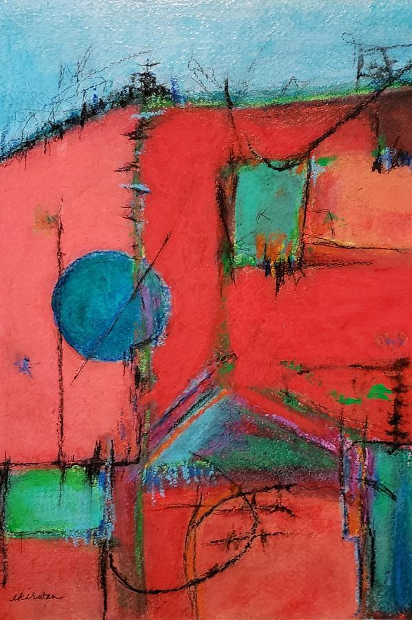 Abstract Mixed Media - Diptych A  by Ellen Kirwan