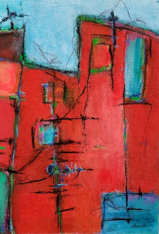 Abstract Mixed Media - Diptych B by Ellen Kirwan