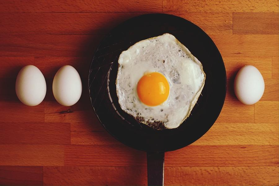 Directly Above Shot Of Eggs And Fried Photograph by Daniel Kormann / Eyeem
