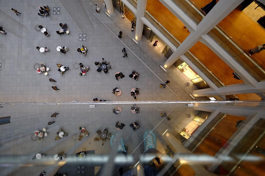 Directly Above Shot Of People Outside Photograph by Atsushi Fujikawa / Eyeem