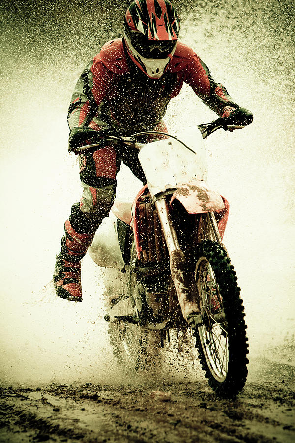 Dirt Bike Rider Photograph by Thorpeland Photography