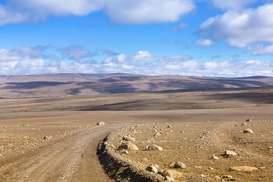Dirt Road Sprengisandur Central Iceland Photograph by Mlenny