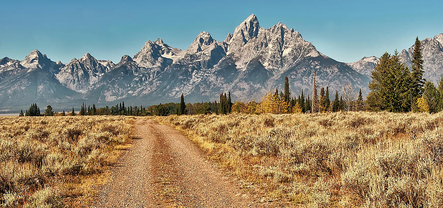 Dirt Road To Tetons Photograph by Jeff R Clow