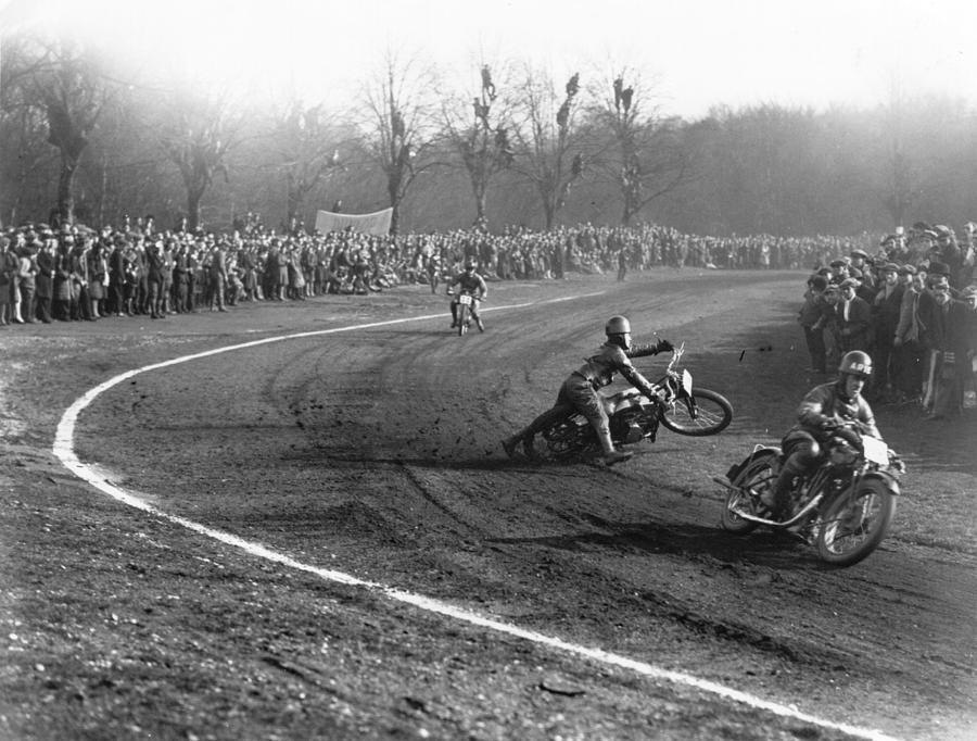Dirt Track Racing Photograph by Edward G. Malindine