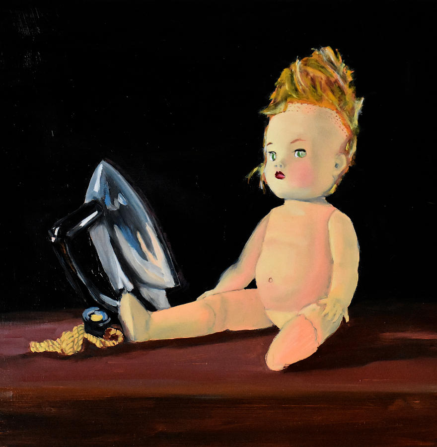 Baby Doll Painting - Discarded Toys by Emily Warren