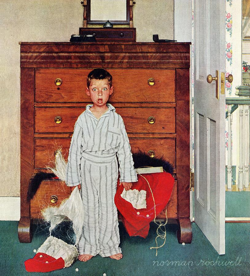Bedrooms Drawing - Discovery by Norman Rockwell