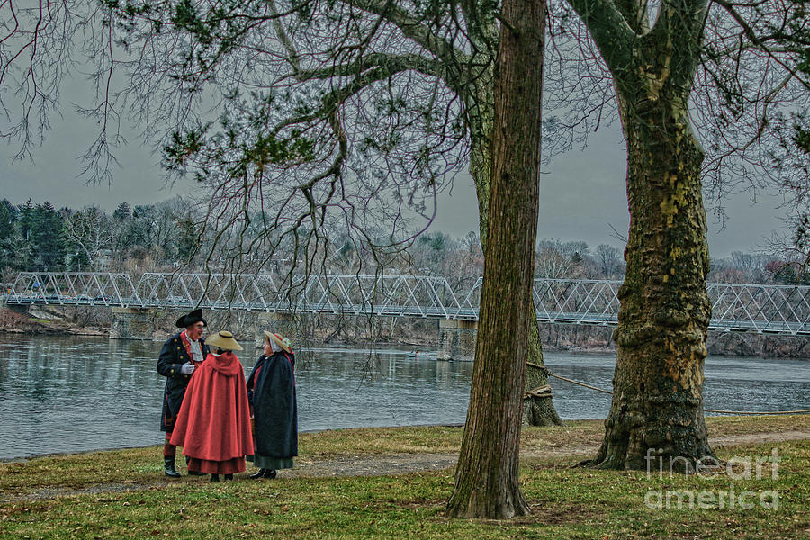 Discussion At Washington Crossing Photograph
