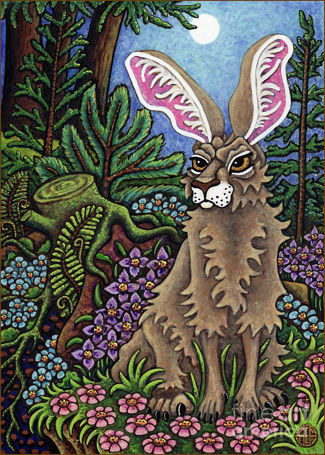 Disgruntled Woodland Hare by Amy E Fraser