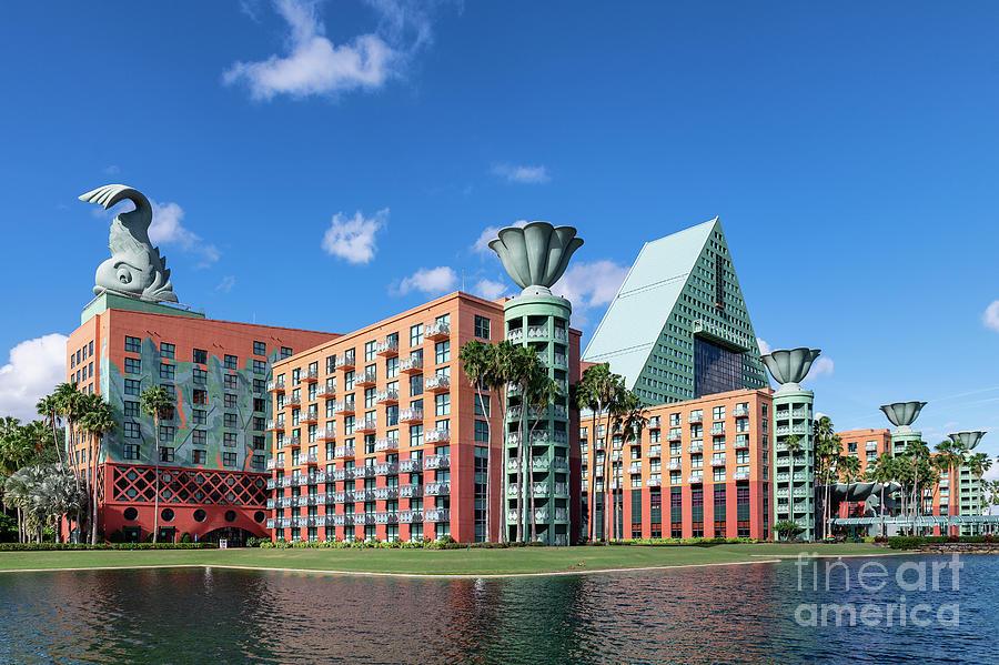 Bay Lake Photograph - Disney Dolphin Hotel by John Greim