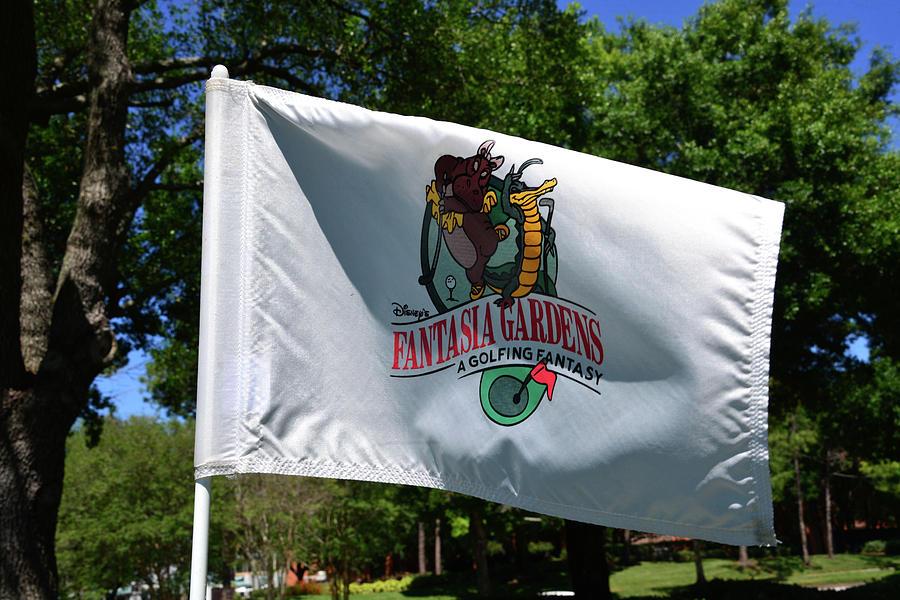 Disney's Fantasia Gardens Golf hole flag by David Lee Thompson