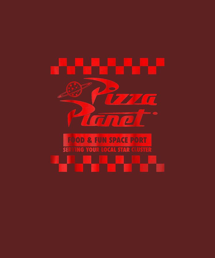 disney pixar toy story pizza planet checkered logo t shirt unique tees