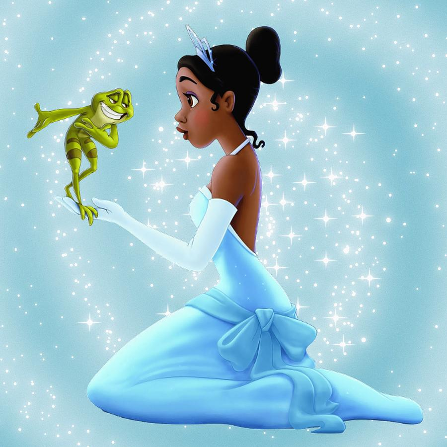 This is a graphic of Luscious Tiana Frog Princess