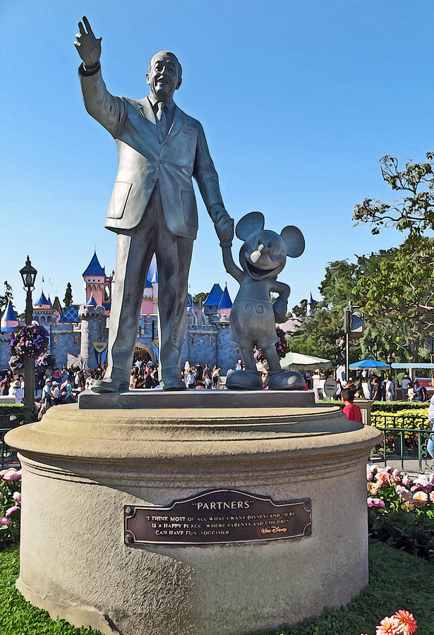Disneyland Partners Statue  by Anthony Jones