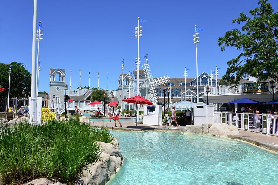 Disney's Beach Club Resort pool area by David Lee Thompson