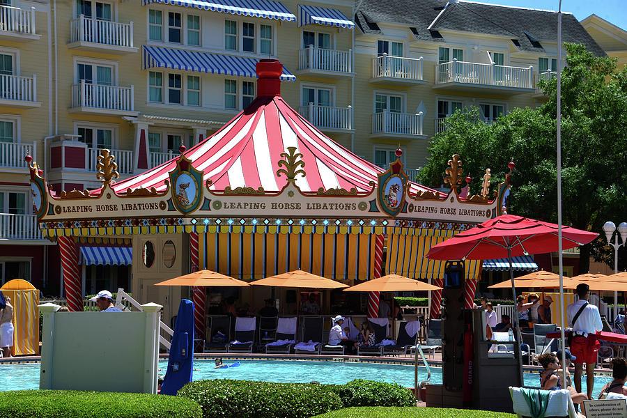 Disney's Boardwalk Resort carousel and pool by David Lee Thompson