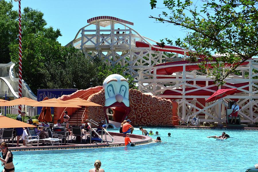 Disney's Boardwalk Resort pool area by David Lee Thompson