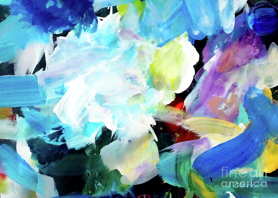 Abstract Painting - Dissolving by John Clark