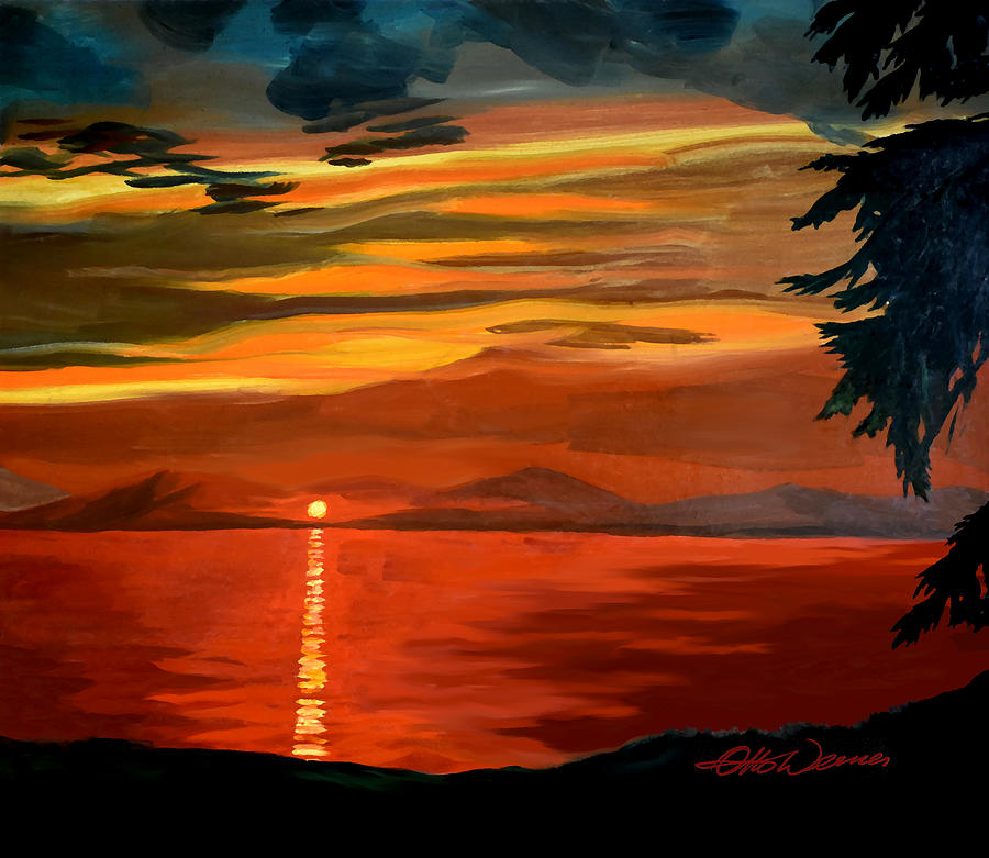 Distant Sunset Painting