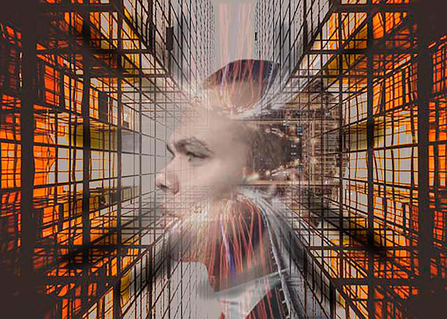 Man Digital Art - Distracted By Thoughts by Kuhni Photography