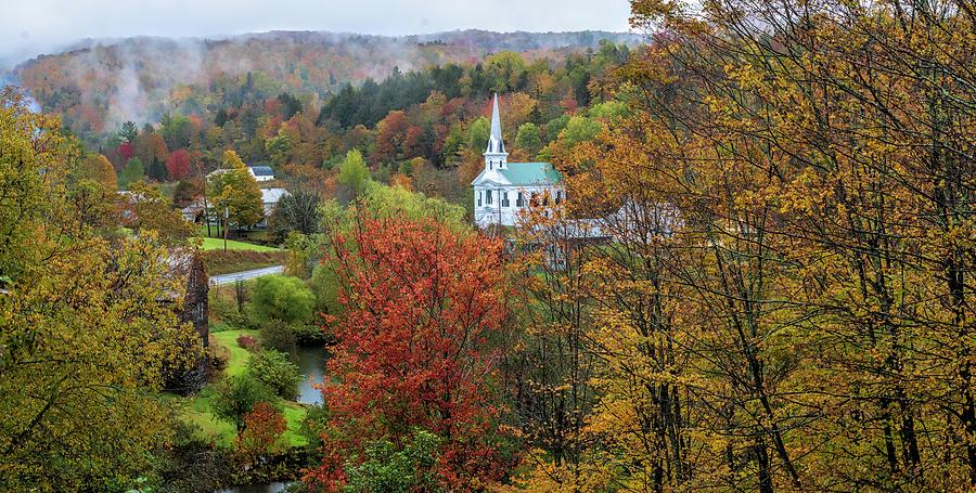 Divine Autumn in New England  by OLena Art - Lena Owens