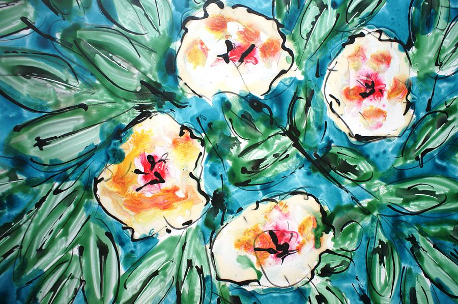 Flowers Painting - Divineblooms22222 by Baljit Chadha