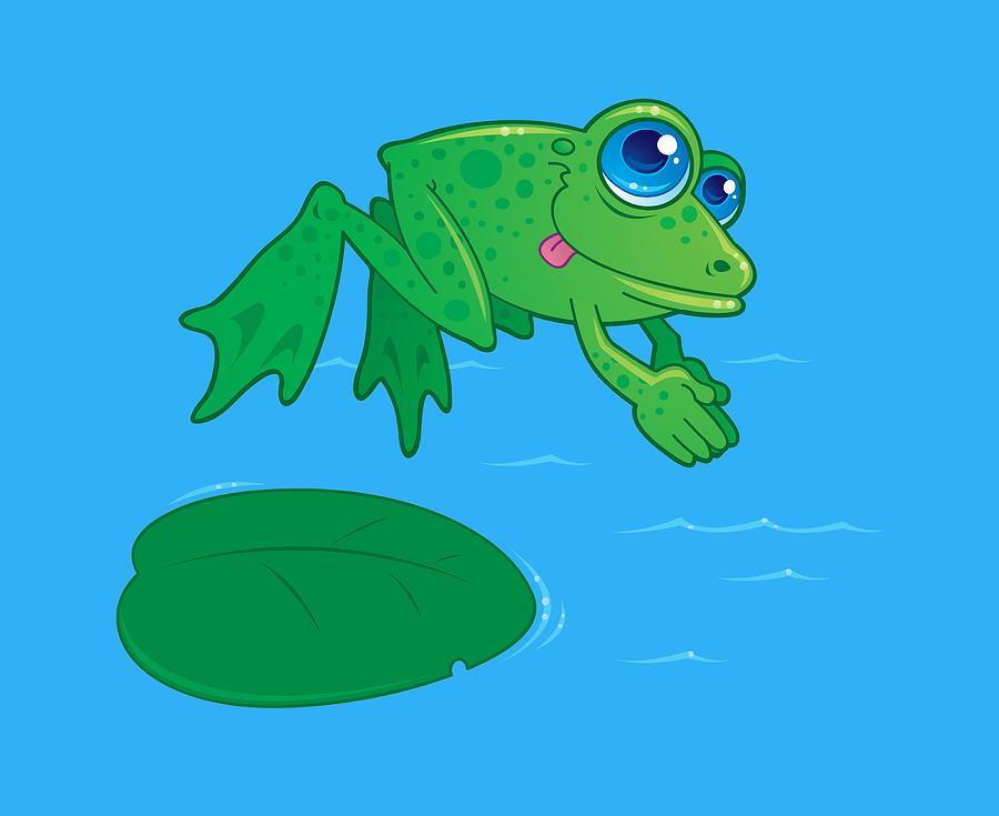 Diving Frog Digital Art