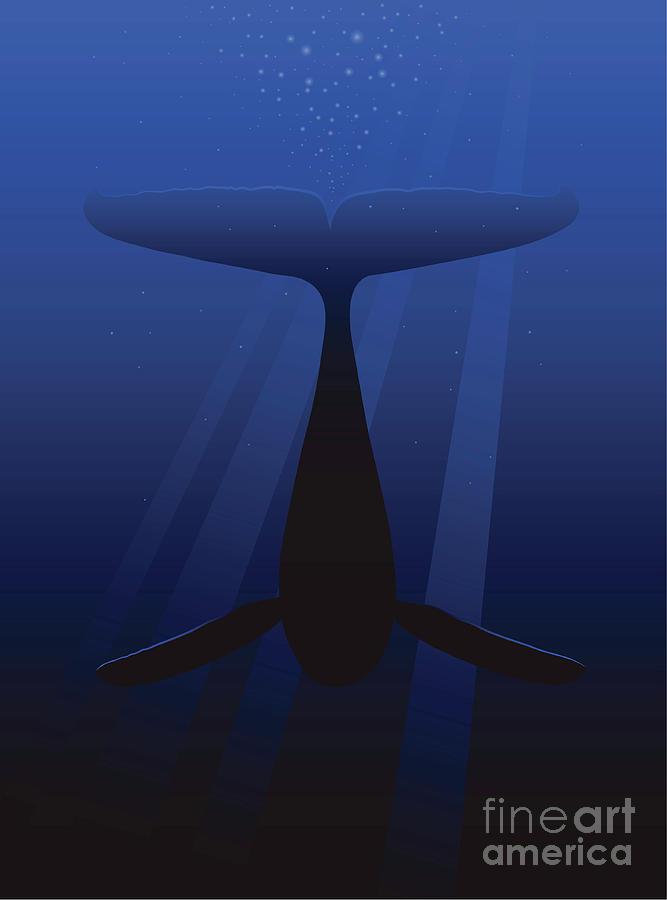 Diving Whale Digital Art by Wehrmann69