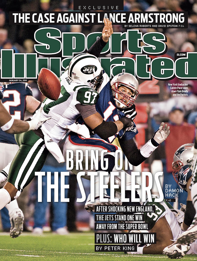 Divisional Playoffs - New York Jets V New England Patriots Sports Illustrated Cover Photograph by Sports Illustrated