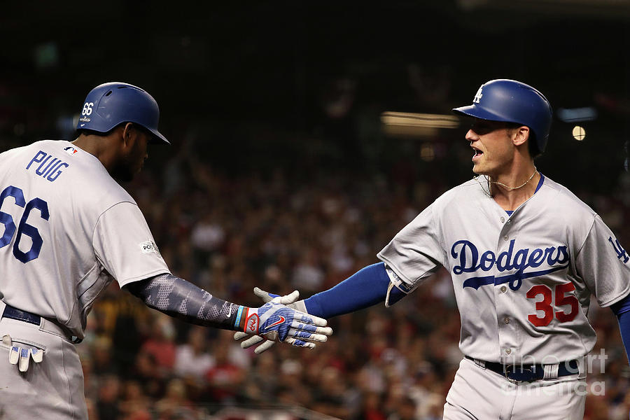 Divisional Series - Los Angeles Dodgers Photograph by Christian Petersen