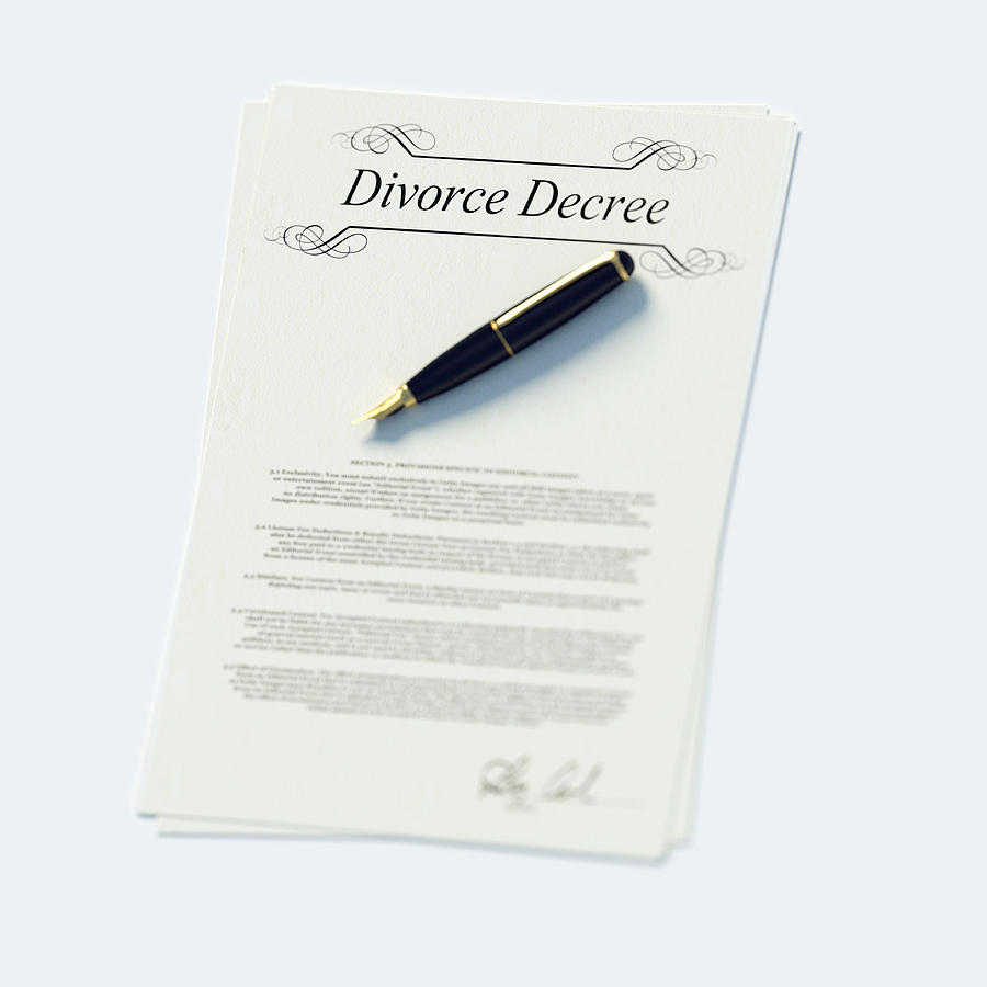 Divorce Papers In English And Pen Photograph by Doug Armand