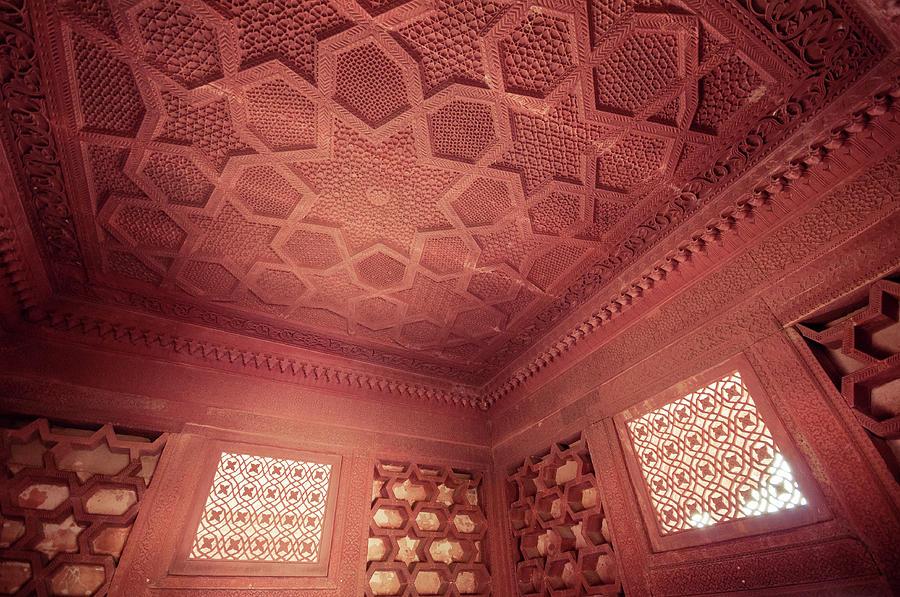 Ceiling Photograph - Diwan-i-khas by Jonatan Martin