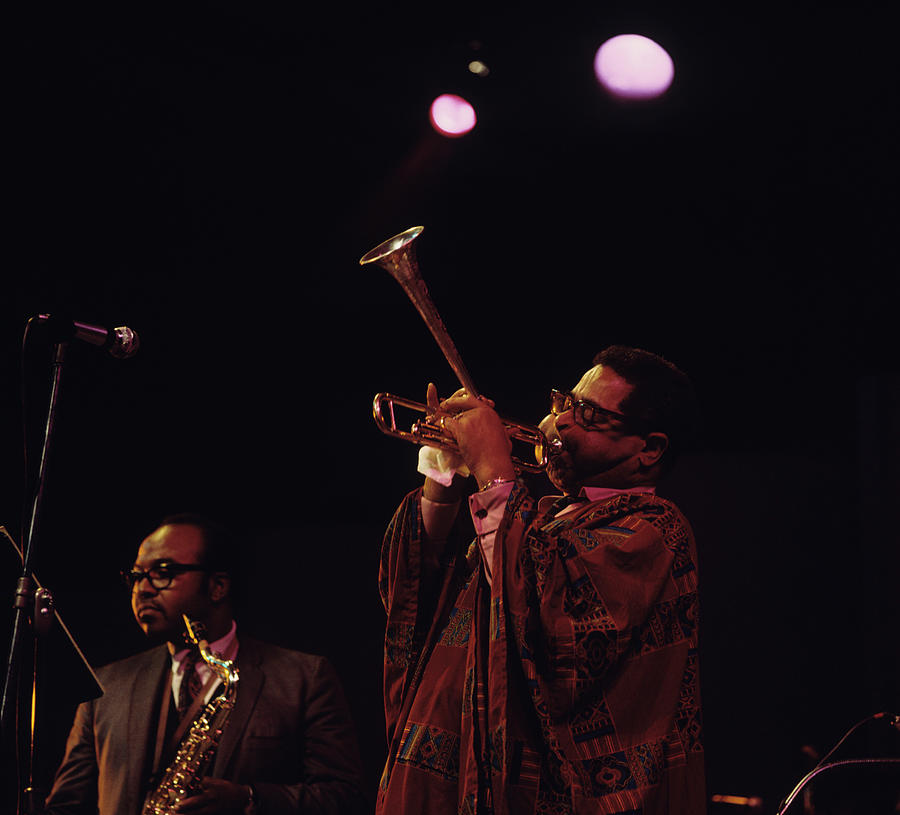 Dizzy Gillespie Performs At Newport Photograph by David Redfern