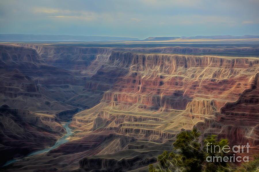 Dizzy View Grand Canyon  by Chuck Kuhn