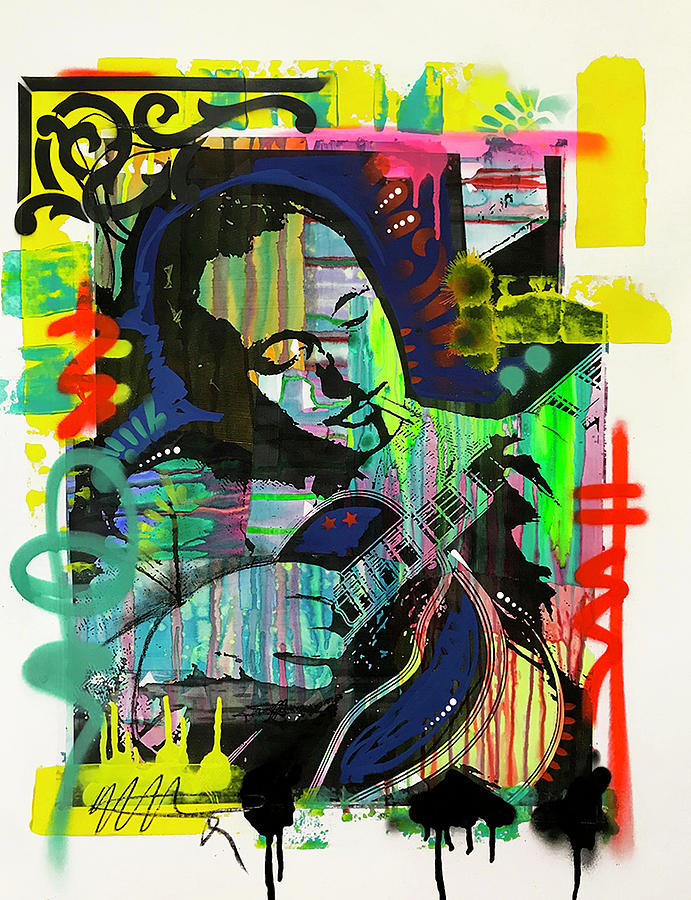 Django Reinhardt by Dean Russo Art
