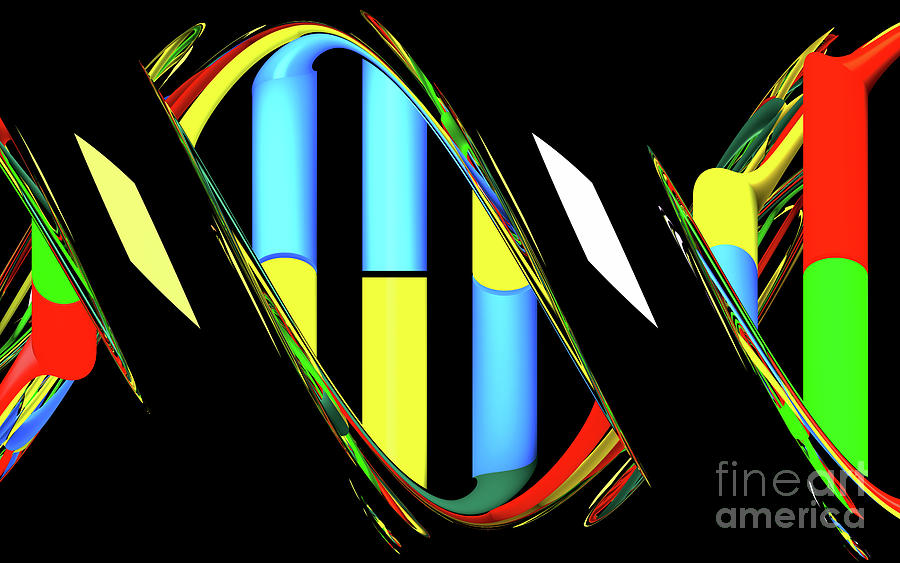 DNA Abstract 15 by Russell Kightley