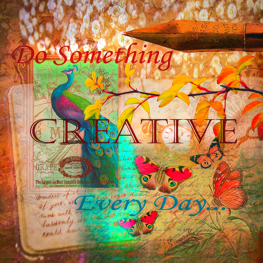 Do Something Creative Every Day Watercolor Painting by Debra and Dave Vanderlaan