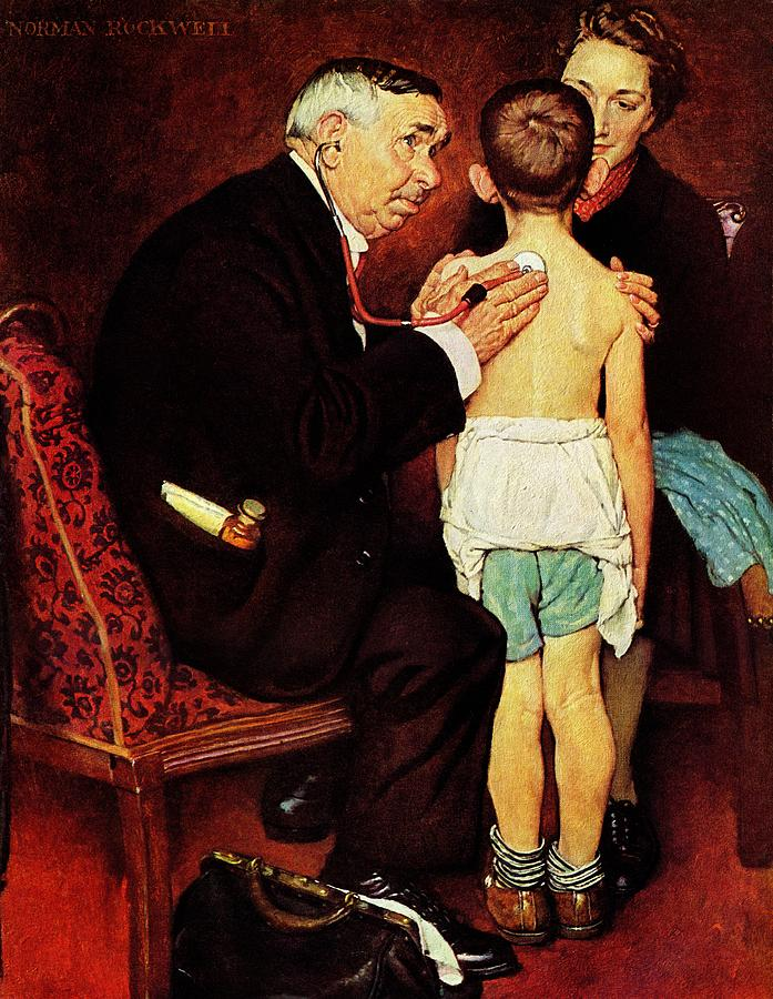 Doctor Drawing - Doc Melhorn And The Pearly Gates by Norman Rockwell