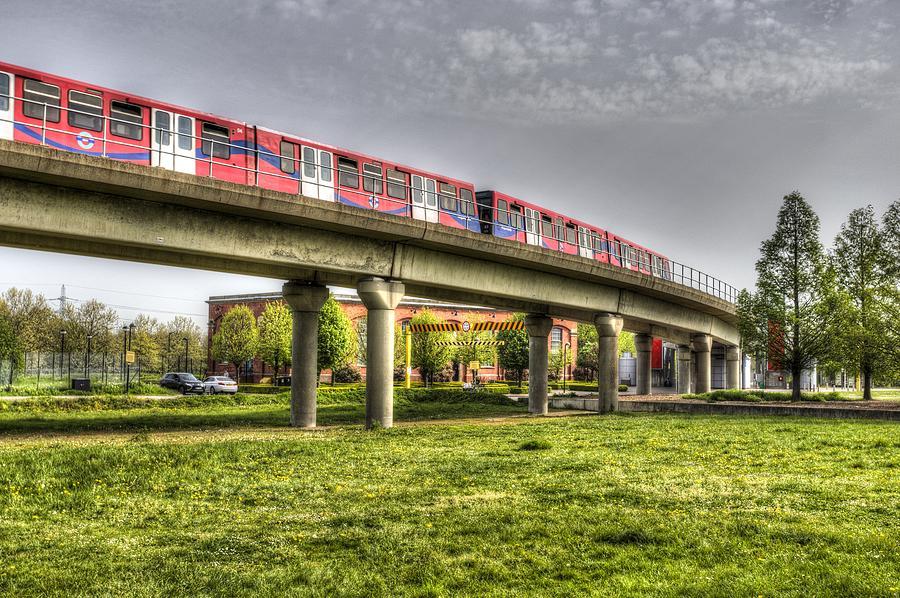 Docklands Light Railway Photograph - Docklands Light Railway Train  by David Pyatt