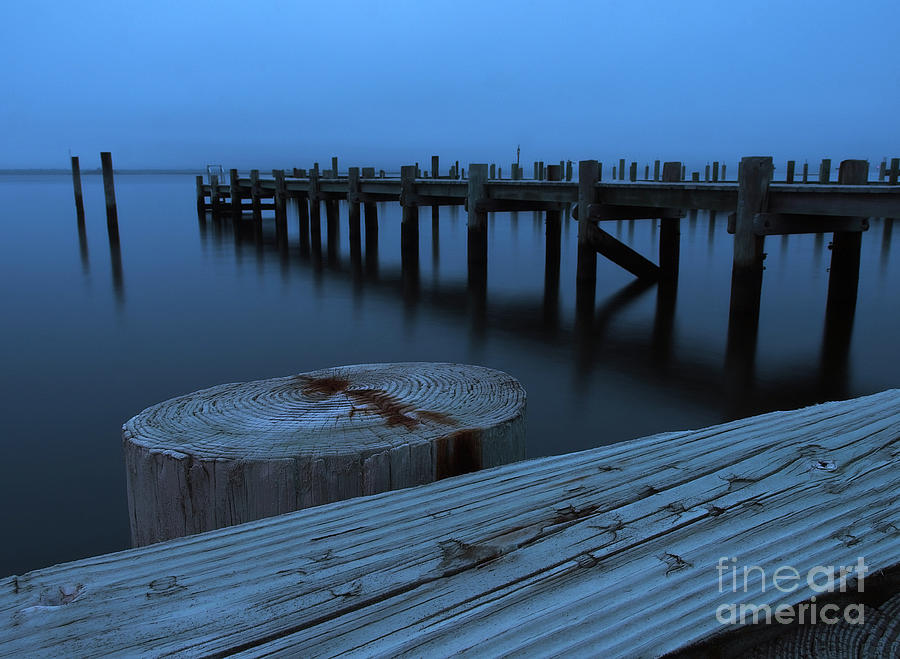 Dockside at Dusk by Mark Miller